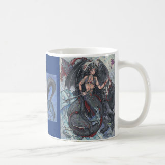 Mystische Meerjungfrau-und Seeunicorn-Wasser-Tasse Kaffeetasse
