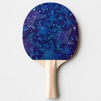 Mystische tiefe blaue Starfish auf Glittern Tischtennis Schläger