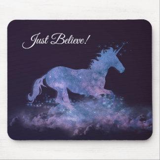 Mystische Unicorn-Silhouette Mauspad