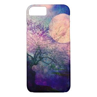 Mystischer Baum-und Nachtmond-Telefon-Kasten iPhone 8/7 Hülle