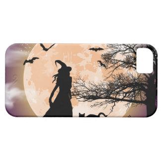 Mystischer Hexe-und Katzen-Vollmond iPhone 5 Hülle