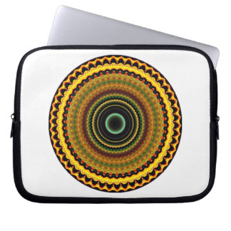 Mystischer Kaleidoskop-Entwurf 12 Laptop Schutzhülle