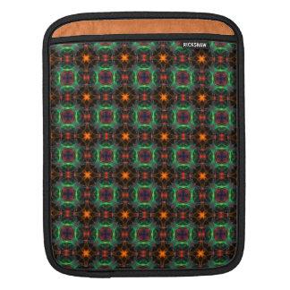 Mystisches orange und Smaragdmuster Sleeves Für iPads
