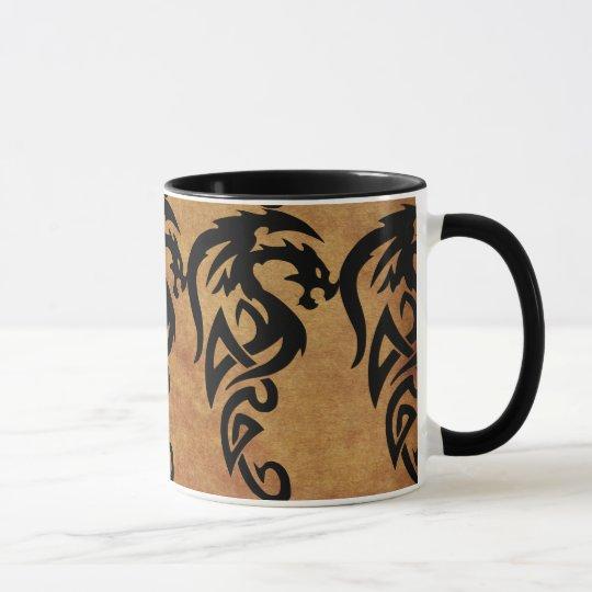 Mythischer Stammes- Drache, Jahr des Tasse