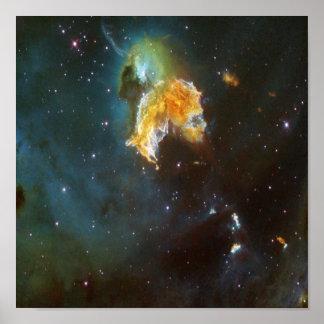 N63A Dame des nächtlichen Himmels Poster
