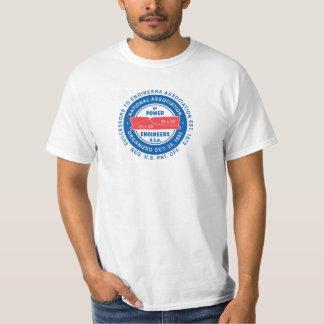 N.A.P.E. Großer Logo-Weiß-T - Shirt