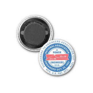 N.A.P.E. Klassischer Logo-Magnet Runder Magnet 2,5 Cm