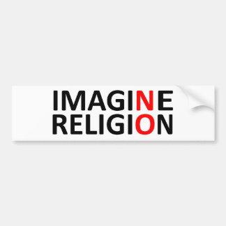 N imaginez aucune religion adhésifs pour voiture