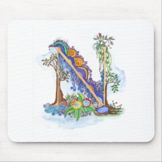 N, Initiale, Monogramm, wedding Mousepad