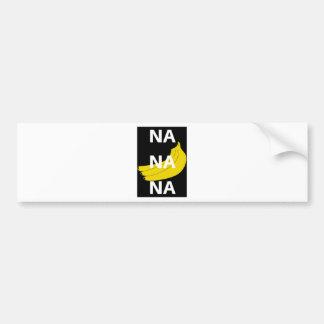 Na-Na-Na-Bananen-Illustrations-Entwurfs-Text Autoaufkleber