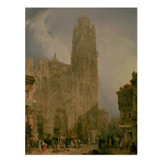 Nach Westen Front von Notre Dame, Rouen Postkarte