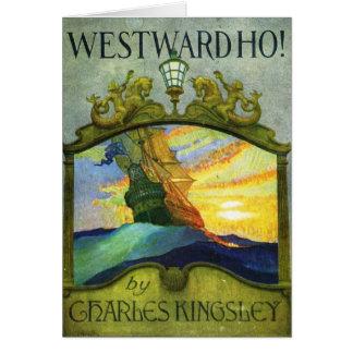 Nach Westen Ho! Bookcover durch N.C Wyeth, 1920 Grußkarte