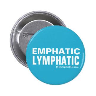 """""""Nachdrücklicher Lymph"""" runder Knopf - mehrfache Runder Button 5,7 Cm"""
