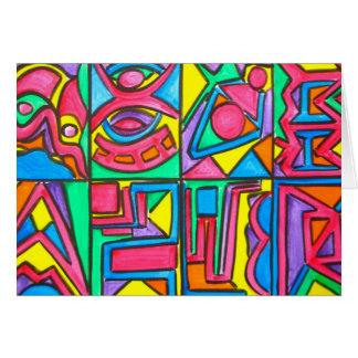 Nachmittags-Licht - abstrakte Kunst Notecard Karte