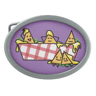 Nachos schmolzen KäseJalapenonacho-Tortilla-Chips Ovale Gürtelschnallen
