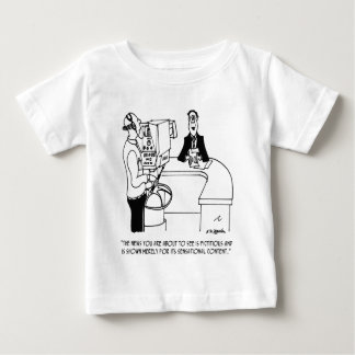 Nachrichten-Cartoon 4155 Baby T-shirt