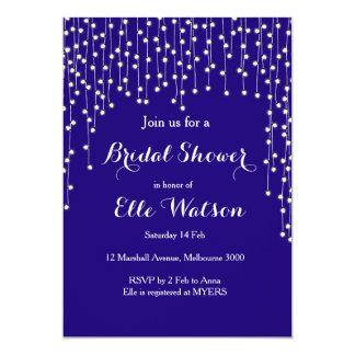 Nacht beleuchtet Marine-Brautparty-Einladung 12,7 X 17,8 Cm Einladungskarte