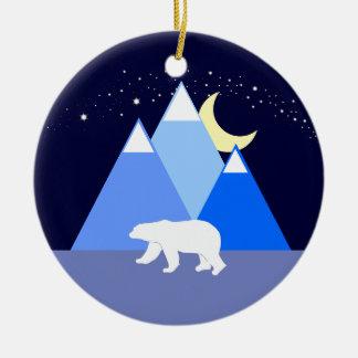 Nacht und Tag Keramik Ornament