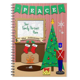Nacht vor Weihnachten • 2 Strümpfe Notizblock