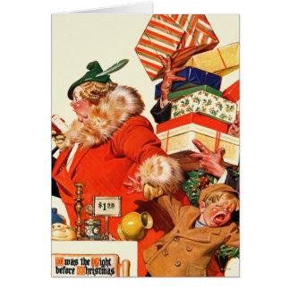 Nacht vor Weihnachten Karte
