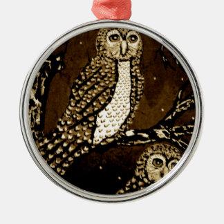 Nacht WatchersIMG_0247.JPG Rundes Silberfarbenes Ornament