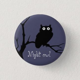 Nachteule Runder Button 2,5 Cm
