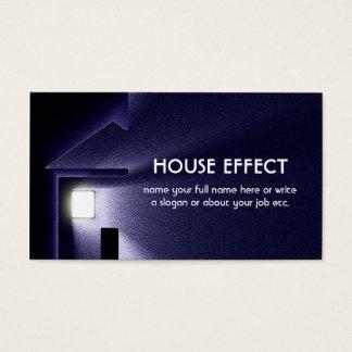 Nachthaus-Licht-Strom und Winter Visitenkarte