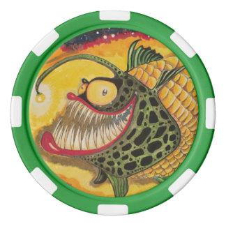 """""""Nachthelle"""" Fische mit Haltung Poker Chips Set"""