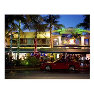 Nachtleben auf Ozean-Antrieb, Südstrand, Miami Postkarte