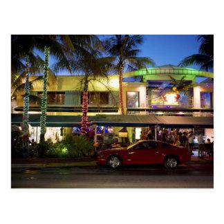 Nachtleben auf Ozean-Antrieb, Südstrand, Miami Postkarten