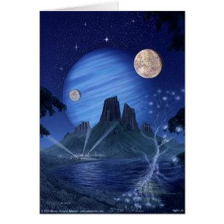 Nachtleben Grußkarte