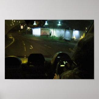 Nachtleben-Reise-Limousinen-Antrieb Paris genießen Poster