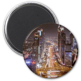 Nachtleben Runder Magnet 5,7 Cm