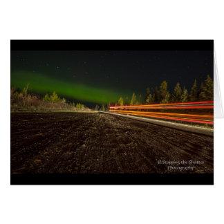 Nächtliche Himmel - Nordlichter Grußkarte