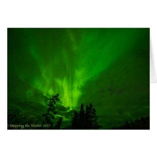 Nächtliche Himmel - Nordlichter II Grußkarte