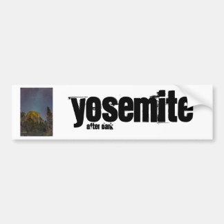 Nächtlicher Himmel Yosemite-Tal-EL Capitan Autoaufkleber
