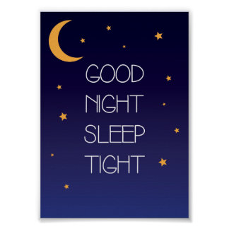 Nachtschlaf-festes Zitat-Plakat Poster
