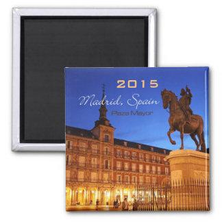 Nachtzeit-Szenen-Magnet-Änderungs-Jahr Madrids Quadratischer Magnet