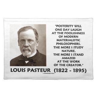 Nachwelt-materialistisches Philosophen Pasteur Tisch Sets