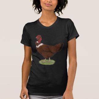 Nackt-Hals Henne T-Shirt
