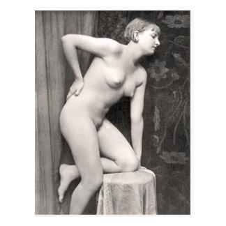 Nackte Frauen-Franzose-Postkarte Postkarte