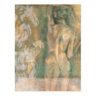 Nackte weibliche Zahl durch Jennifer Goldberger Postkarte