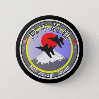 NAF Atsugi Japan Runder Button 5,7 Cm