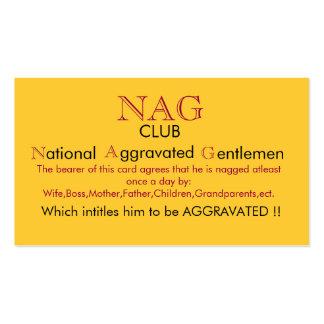 Nag-Verein-Karte Visitenkarten Vorlagen