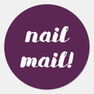 Nagel-Post! Feigenaufkleber Runder Aufkleber