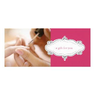 Nagel-Salon oder Nagel-Studio-Geschenkgutscheine Bedruckte Werbekarte