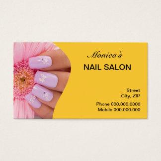 Nagel-Salon-Visitenkarte - wählen Sie Ihre Farbe Visitenkarte
