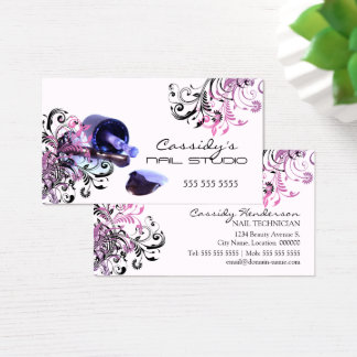Nagel-Techniker-Schönheits-Salon Visitenkarten