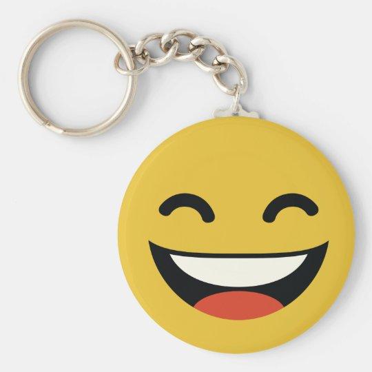 Nah Ihre Augen, die emoji lachen Standard Runder Schlüsselanhänger
