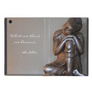 Nah oben von friedlichem silbernem Buddha Schutzhülle Fürs iPad Mini